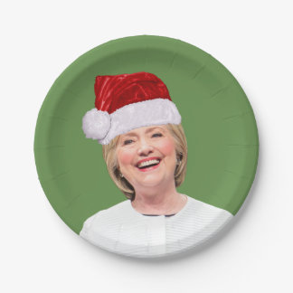 Assiettes En Papier Hillary Claus - magie de fête de vacances - plaque