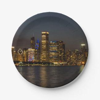 Assiettes En Papier Horizon Chicago Pano de nuit