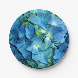 Assiettes En Papier Hortensia bleu