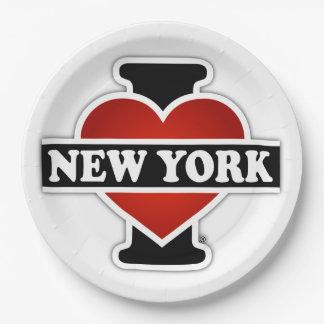 Assiettes En Papier I coeur New York