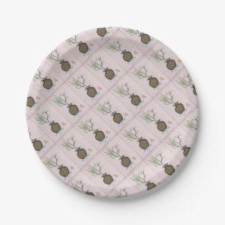 Assiettes En Papier Ikebana 1 par les fernandes élégants