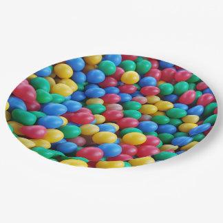 Assiettes En Papier Jeu coloré d'enfants de boules de mine de boule