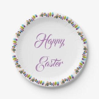 Assiettes En Papier Joyeuses Pâques
