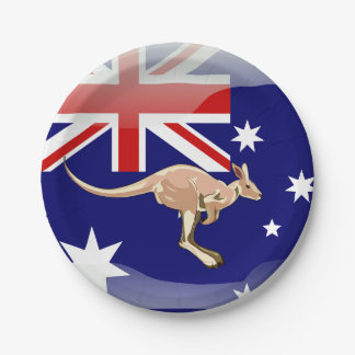 Assiettes En Papier Kangourou australien