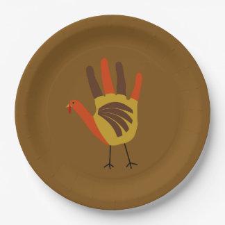 Assiettes En Papier La copie mignonne Turquie de main de bon