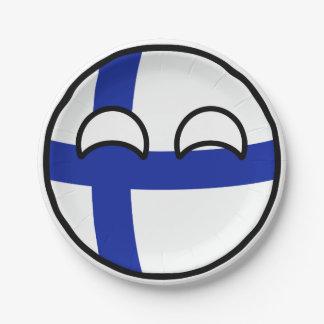 Assiettes En Papier La Finlande Geeky tendante drôle Countryball