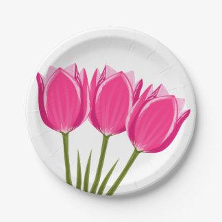 Assiettes En Papier La tulipe fleurit les plaques à papier