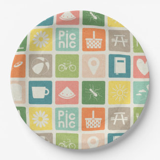 Assiettes En Papier La vie est les plaques à papier d'un pictogramme