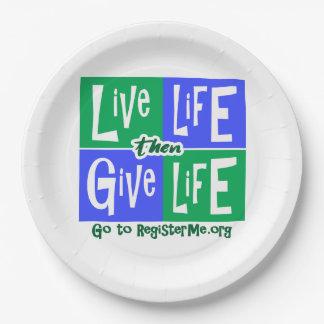 Assiettes En Papier La vie vivante donnent alors la vie