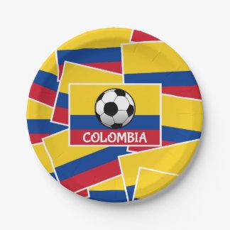 Assiettes En Papier Le football de la Colombie