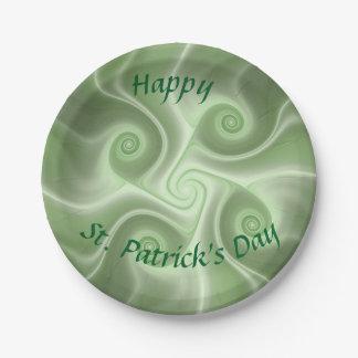 Assiettes En Papier Le jour de St Patrick heureux