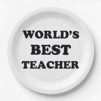 Assiettes En Papier Le meilleur professeur du monde