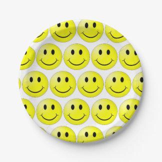 Assiettes En Papier le sourire fait face aux plaques à papier 7 po