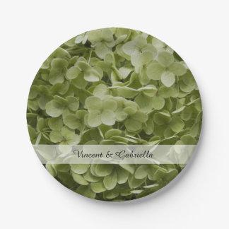 Assiettes En Papier L'hortensia vert d'Annabelle fleurit le mariage