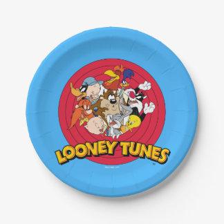 Assiettes En Papier Logo Looney de caractère d'airs