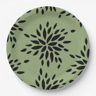 Assiettes En Papier L'olive a éclaté la plaque à papier