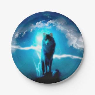 Assiettes En Papier Loup de neige - loups de tonnerre - loup sauvage