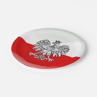 Assiettes En Papier Manteau des bras polonais