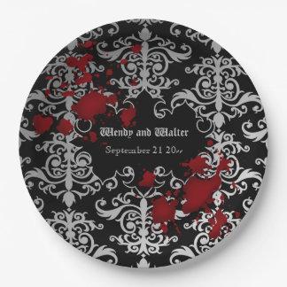 Assiettes En Papier Mariage orienté de Goth
