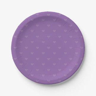 Assiettes En Papier Mariage/partie d'amour de Purple Heart