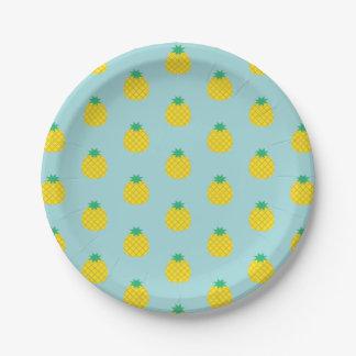 Assiettes En Papier Motif d'ananas