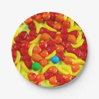 Assiettes En Papier Motif de sucrerie de fruit