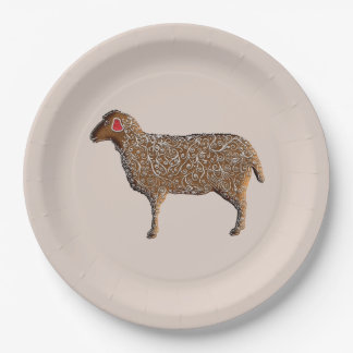 Assiettes En Papier Moutons chinois de pain d'épice de zodiaque
