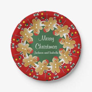 Assiettes En Papier Noël doux de pain d'épice