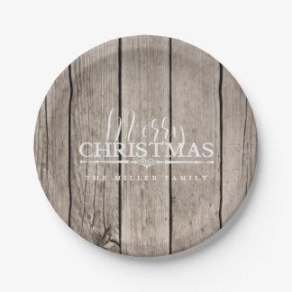 Assiettes En Papier Noël en bois de pays