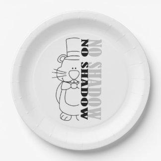 Assiettes En Papier Nope… aucune ombre ! Plaque à papier de partie de