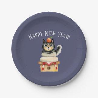 Assiettes En Papier Nouvelle année de Mochi Shiba