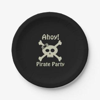 Assiettes En Papier Oh ! Plaques à papier de partie mignonne de pirate