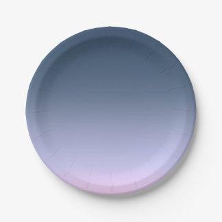 Assiettes En Papier Ombre Bleu-rose.