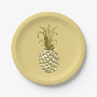 Assiettes En Papier Or ID239 d'ananas