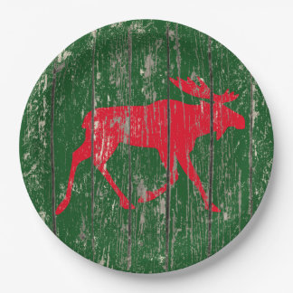 Assiettes En Papier Orignaux sur votre bois patiné de couleur