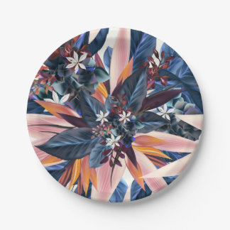 Assiettes En Papier Peinture pointue moderne élégante d'art de feuille