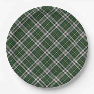Assiettes En Papier Plaid de tartan   breton de cap de plaque à papier