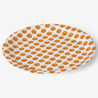 Assiettes En Papier Plaque à papier - Calendula orange dans les
