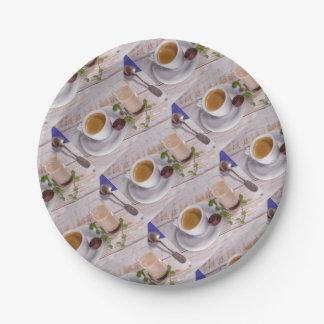 Assiettes En Papier Plaque à papier de café confortable