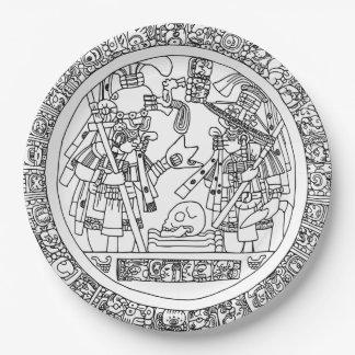Assiettes En Papier Plaque à papier de cercle maya