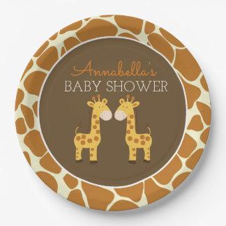Assiettes En Papier Plaque à papier de jumeau jumeau de girafes