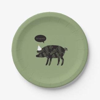 Assiettes En Papier Plaque à papier de porc d'animaux de ParTé