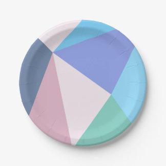 Assiettes En Papier Plaque à papier de triangle moderne de couleur en