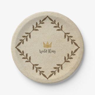 Assiettes En Papier Plaque à papier de vigne sauvage de chose