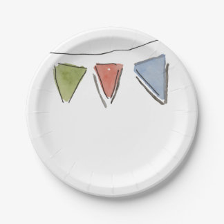 Assiettes En Papier Plaque à papier donnante un petit coup de partie