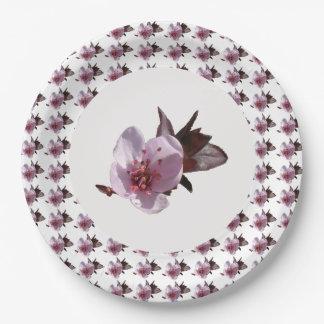 Assiettes En Papier Plaque à papier - fleurs de cerisier
