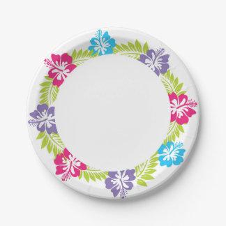 Assiettes En Papier Plaque à papier hawaïenne