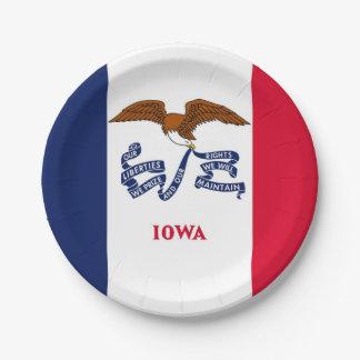 Assiettes En Papier Plaque à papier patriotique avec le drapeau de
