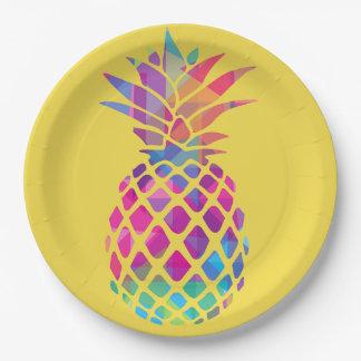 """Assiettes En Papier Plaques à papier 9"""" - ananas"""