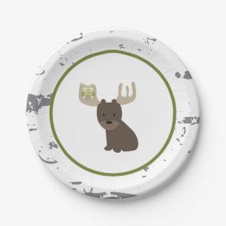 Assiettes En Papier Plaques à papier animales de région boisée